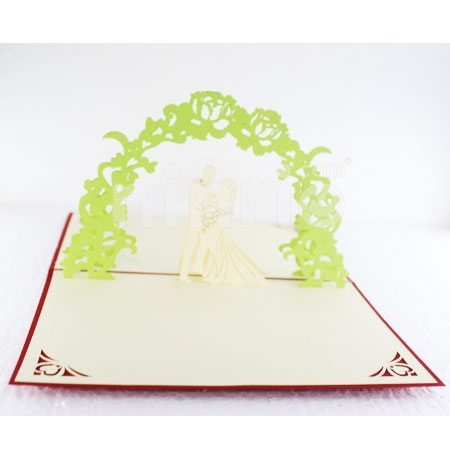 WEDDING 6-3D CARD/POPUP CARD/LOVE AND WEDDING CARD