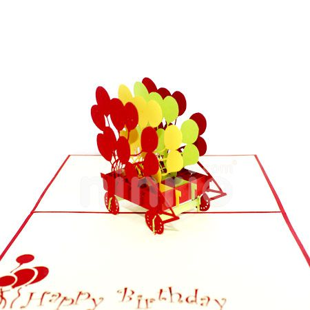 BALLOONS-3D CARD/POPUP/BIRTHDAY CARD