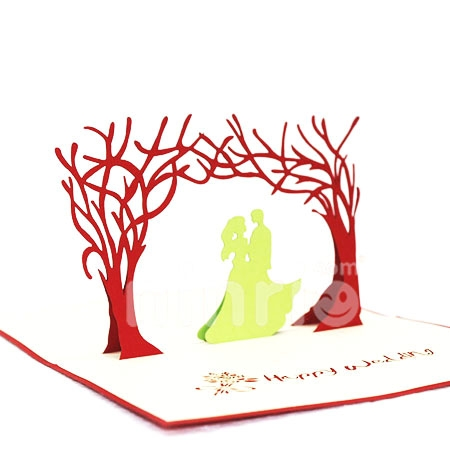 LOVE GARDEN-3D CARD/POPUP CARD/LOVE AND WEDDING CARD