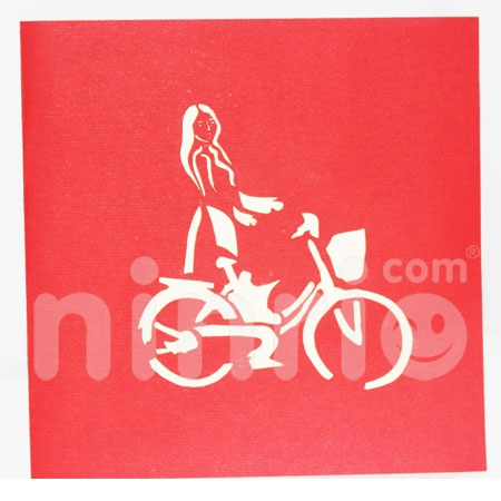 BICYCLE 4-3D CARD/POPUP/CONGRATULATIONS CARD