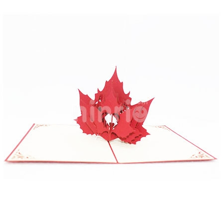 MAPLE LEAVES-3D CARD/POPUP CARD/LOVE AND WEDDING CARD