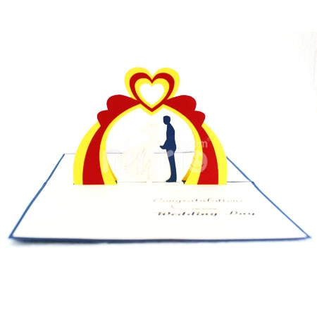 WEDDING 7-3D CARD/POPUP CARD/LOVE AND WEDDING CARD