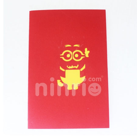 MINION-3D CARD/POPUP/BIRTHDAY CARD