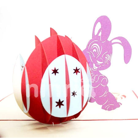 EASTERN BUNNY-3D CARD/POPUP/BIRTHDAY CARD