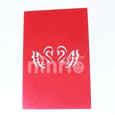 SWAN COUPLE -3D CARD/POPUP CARD/LOVE AND WEDDING CARD