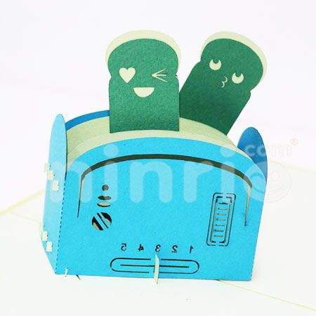 LOVE TOASTER-3D CARD/POPUP/CONGRATULATIONS CARD