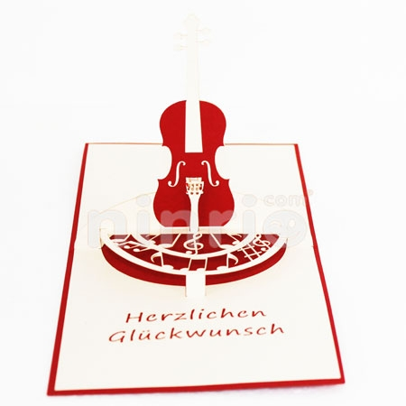 VIOLIN - 3D CARD/POPUP/CONGRATULATIONS CARD