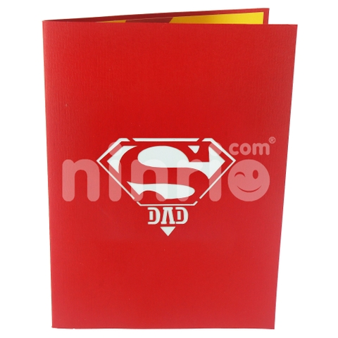 SUPER DAD - GREETING CARD, CONGRATULATION CARD, FATHER'S DAY CARD