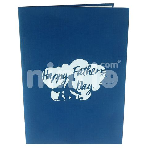 DAD & DAUGHTER - 3D POP UP CARD GREETING CRAD FATHER CARD