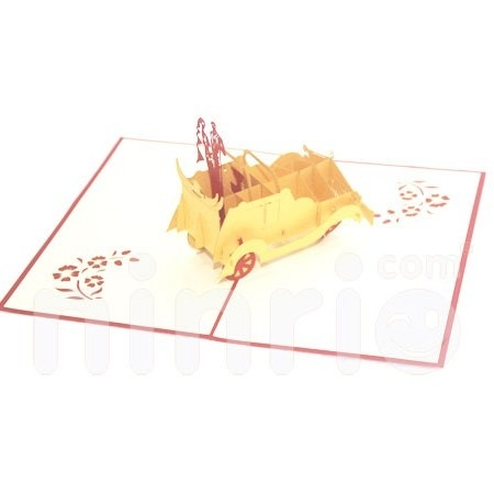 WEDDING CAR-3D CARD/POPUP CARD/LOVE AND WEDDING CARD
