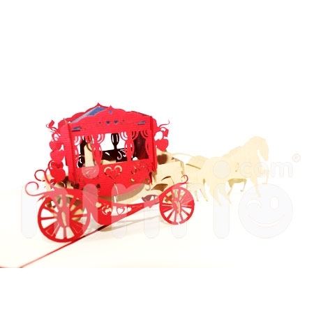 WEDDING HORSES-3D CARD/POPUP CARD/LOVE AND WEDDING CARD