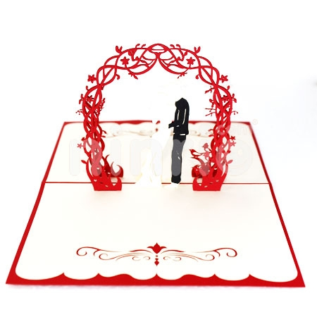 WEDDING -3D CARD/POPUP CARD/LOVE AND WEDDING CARD