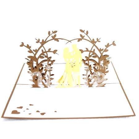 WEDDING-3D CARD/POPUP CARD/LOVE AND WEDDING CARD