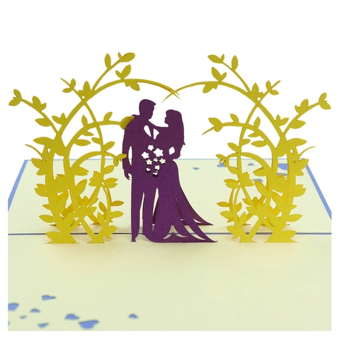 WEDDING-3D CARD/POPUP CARD/LOVE AND WEDDING CARD/ GREETING CARD