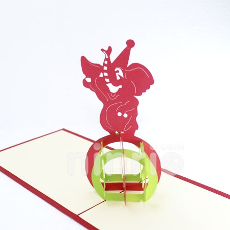 FUNNY ELEPHANT - 3D CARD/POPUP/ANIMAL CARD