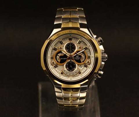 Đồng hồ nam Casio EF-554SG-7AV, đồng hồ casio mặt trắng