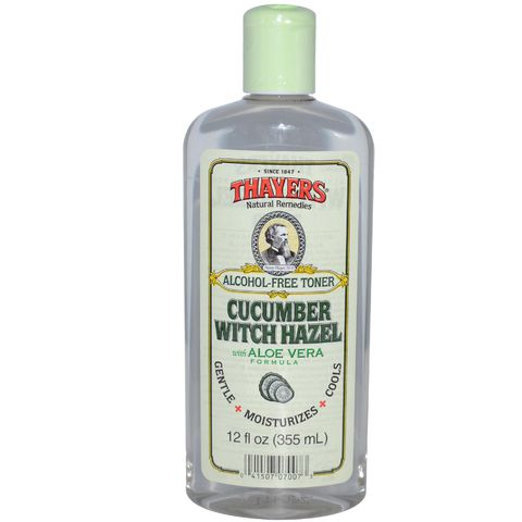 Nước Hoa Hồng  Alcohol-Free Witch Hazel with Organic Aloe Vera Formula Toner Cucumber Thayers - 355ml