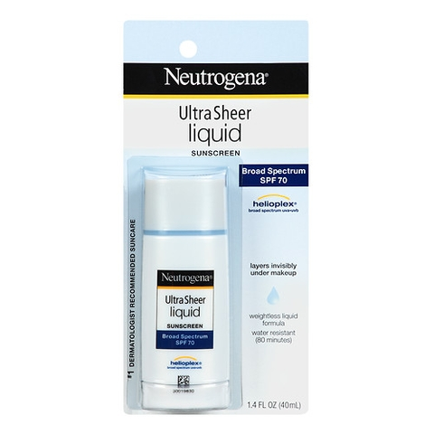 Kem chống nắng Neutrogena Ultra Sheer Liquid Daily Sunscreen Broad Spectrum SPF 70