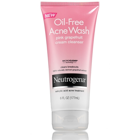 Sữa rửa mặt Neutrogena Oil-Free Acne Wash Cream Cleanser Pink Grapefruit