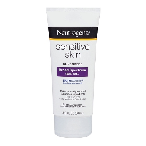 Kem chống nắng Neutrogena Sunscreen Lotion, Sensitive Skin, SPF 60