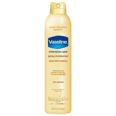 Xịt dưỡng thể Vaseline Intensive Care Spray Moisturizer Essential Healing
