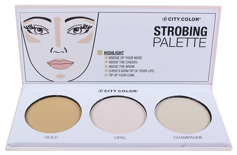 Phấn Hight Light CITY COLOR Strobing Palette