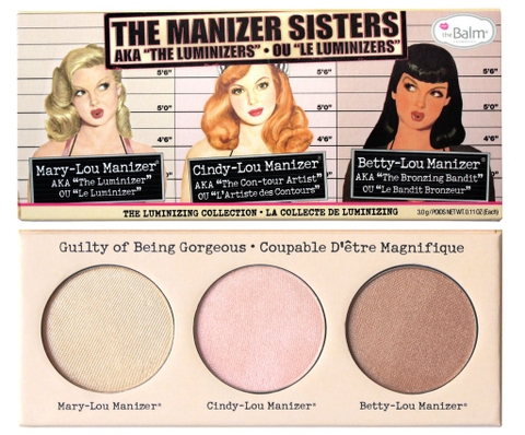 "Bảng phấn Hight Light The Balm The Manizer Sisters AKA the ""Luminizers"""