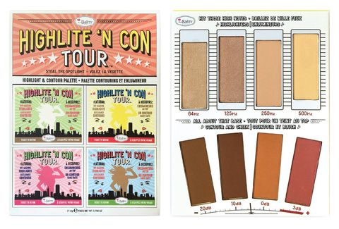Bảng phấn Hight Light - Tạo khối The Balm Highlite 'N Con Tour™ ?Highlight & Contour Palette