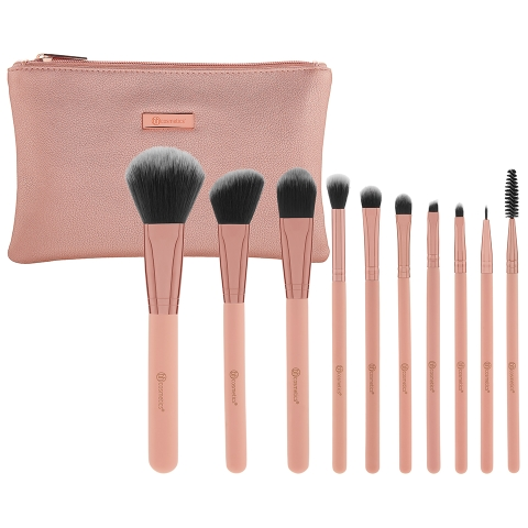 Bộ cọ BH Cosmetic Pretty in Pink – 10 Piece Brush Set with Cosmetic Bag