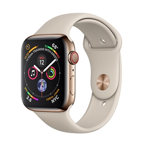 Apple Watch Series 4 Gold Stainless Steel/Stone Sport Band GPS+LTE