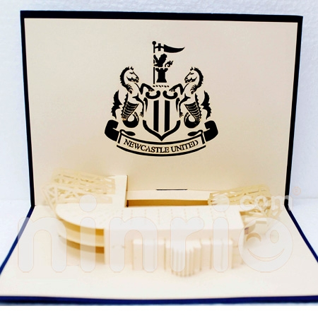THIỆP NỔI 3D NEWCASTLE UNITED - THIỆP POPUP/HANDMADE