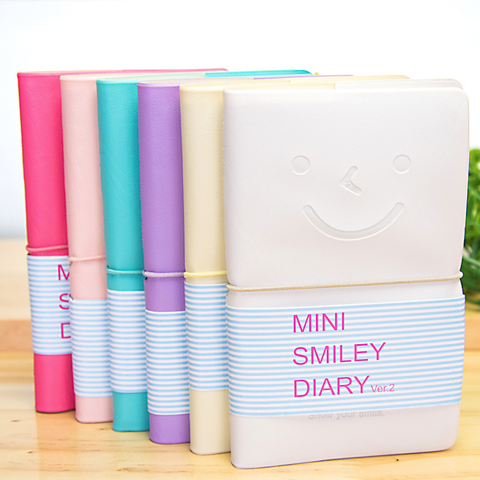 Sổ bìa da Mini Smiley Diary 0607