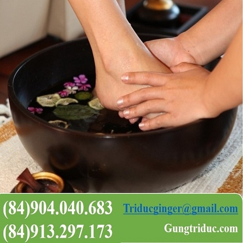 Ginger liquid for foot bath