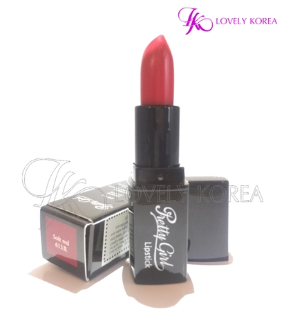 Son siêu lì Pretty Girl Lipstick (613 - Soft Red)