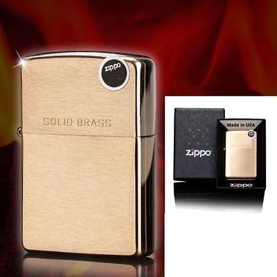 Zippo Brushed Brass Engraved 204 Solid brass