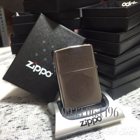 Zippo Laser Manchester United