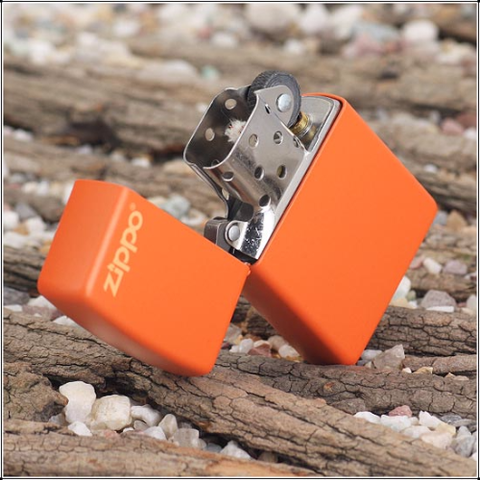 Zippo Orange Matte With Logo