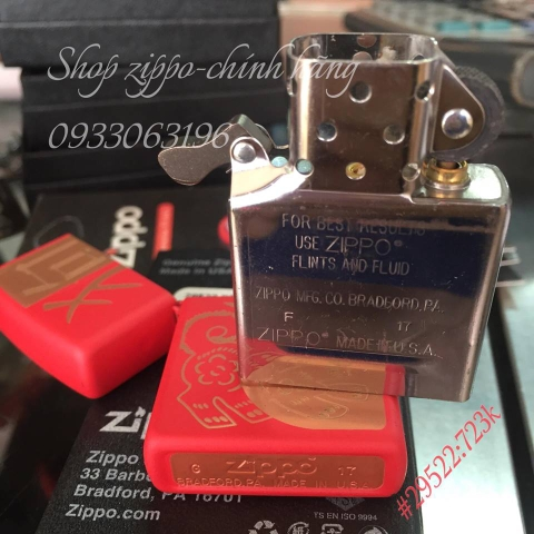 Zippo Year Of The Dog Red Matte