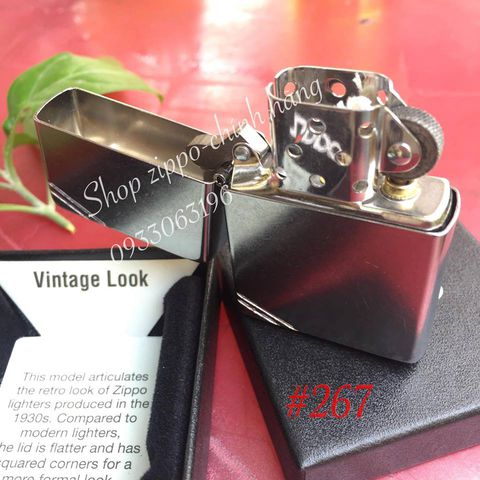 Zippo 267 Replica Vintage With Slashes Street Chrome Windproof Lighter