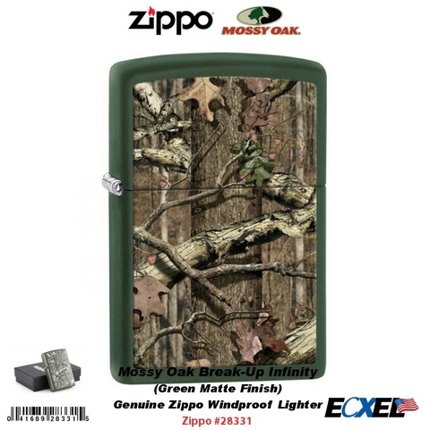 Zippo Mossy Oak Green Matte Break Up Infinity
