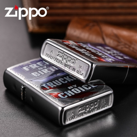 Zippo Free by Birth Brushed Chrome