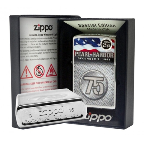 Zippo  Pearl Harbor 75th Anniversary Brushed Chrome