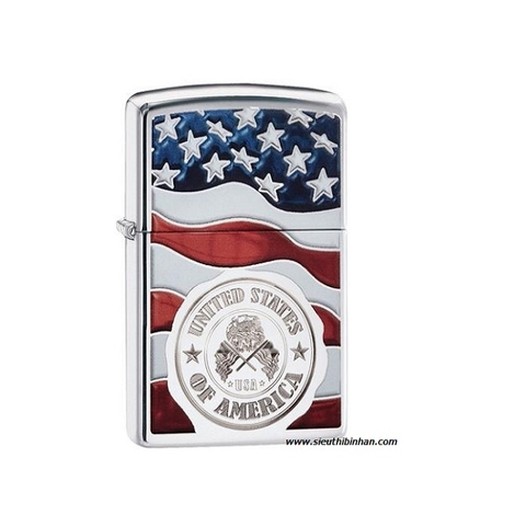 Zippo American Stamp On Flag