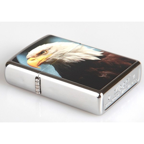 Zippo Bald Eagle Polished Chrome