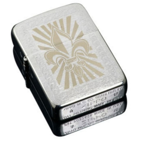 ZIPPO 1941 Replica Fluer-de-lis Brushed Chrome