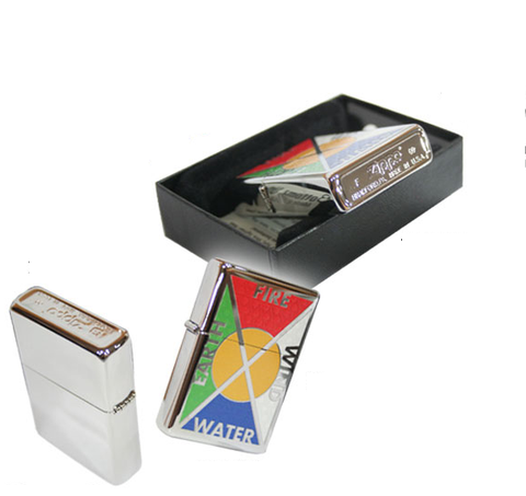Zippo Bottomz Up Earth Wind Water and Fire Pocket Lighter