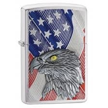 ZIPPO EAGLE USA FLAG WITH EAGLE EMBLEM