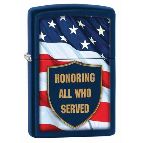 Zippo All That Served Navy Matte