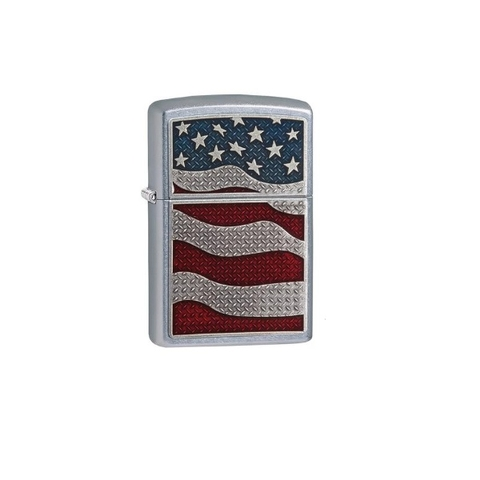 zippo United States American Flag Emblem Street Chrome Finish Lighter New