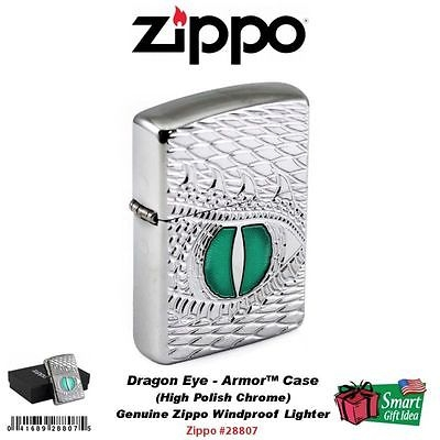 Bật Lửa Zippo Armor Dragon Eye Carved High Polish Chrome
